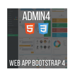 Admin4 - HTML Web App Bootstrap 4