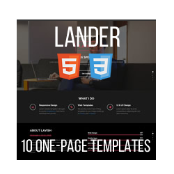 Lander - 10 One-Page Templates