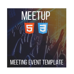 Meetup - HTML Meeting Template